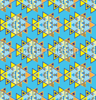 Aztek Modern Nahtloses Vektor Muster