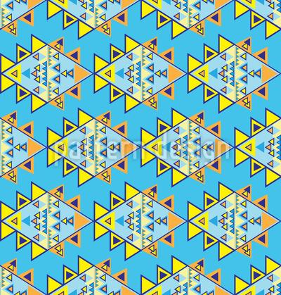 Modern Aztec Seamless Vector Pattern
