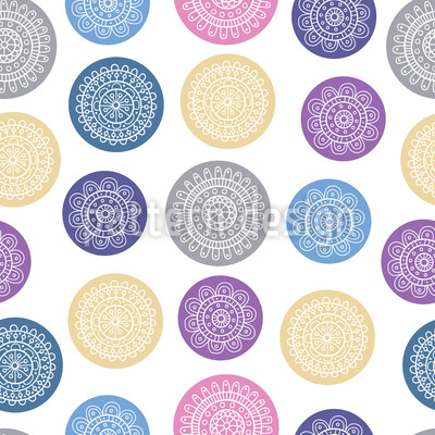 Doodle Circles Repeating Pattern