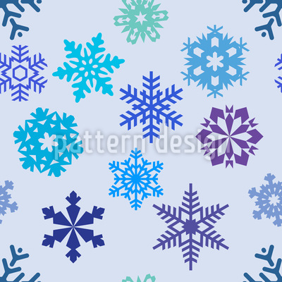 Snowflake Silhouettes Repeat Pattern