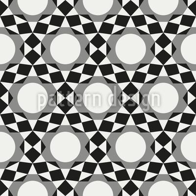Kreise werden zu Sternen Muster Design