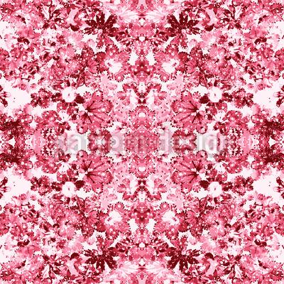 Rose Kaleidoscope Vector Ornament