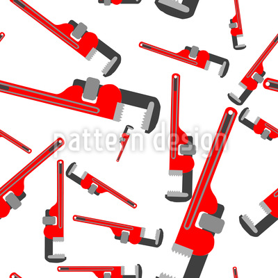 Pipe Wrenches Vector Pattern