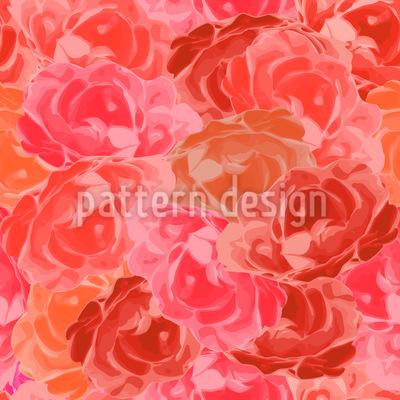Mit Rosen Bedeckt Rapportiertes Design