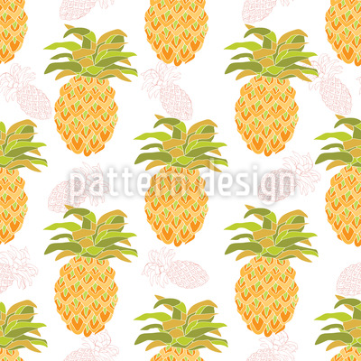 I Want Pineapples Seamless Vector Pattern