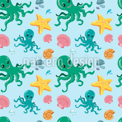 Octopus And Friends Pattern Design