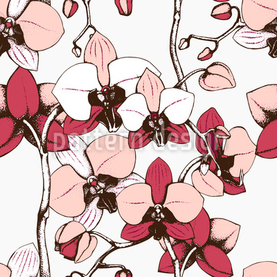Exotic Orchid Vector Ornament