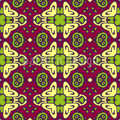 Meeting Point In The Orient Seamless Pattern