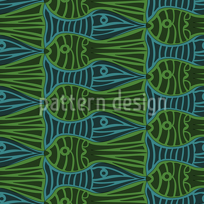 Fish Tank Jam Seamless Vector Pattern