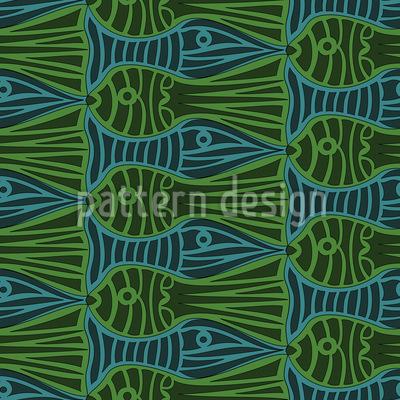 Stau Im Aquarium Nahtloses Vektor Muster