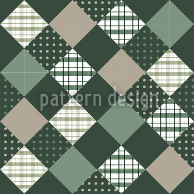 Flig Flag Green Pattern Design