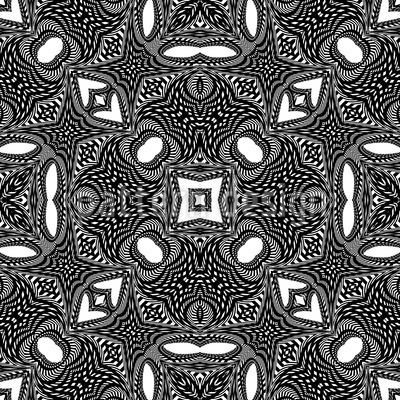 Orient In the Kaleidoscope Vector Design