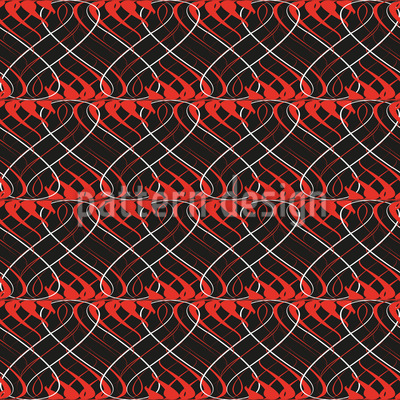 Flames On Wire Pattern Design