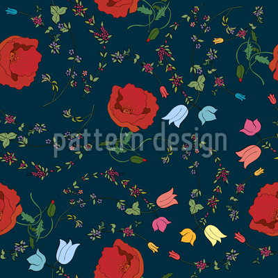 Floral Mix Seamless Vector Pattern
