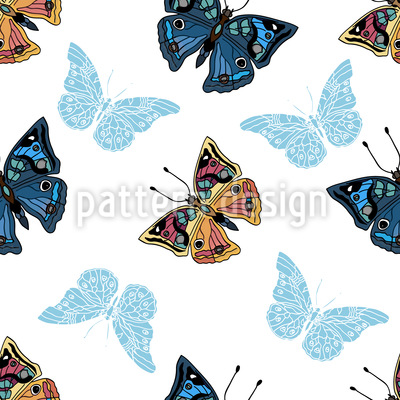 Schmetterlinge In Meinem Garten Vektor Muster