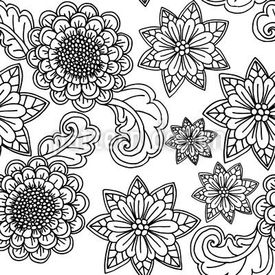 Blumen mit Konturen Vektor Design