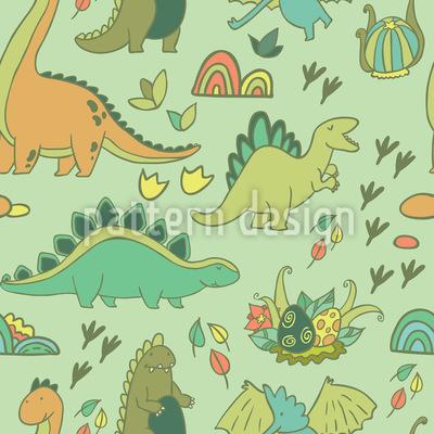 Dino Welt Muster Design