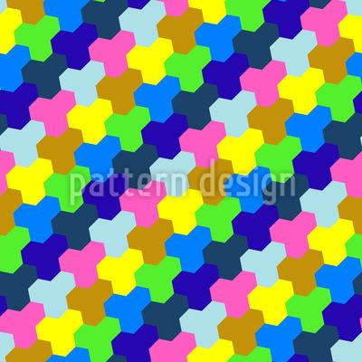 Spielen Mit Sechsecken Nahtloses Vektor Muster