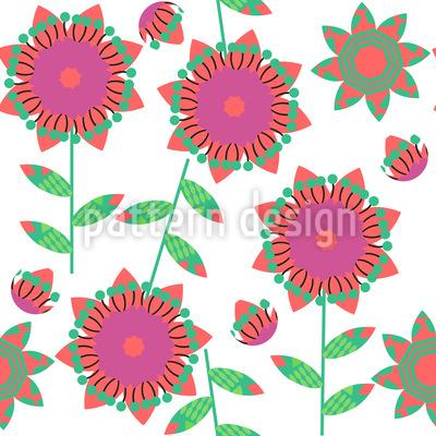 Kleines Blumen Patchwork Rapportmuster