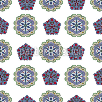 Crystal And Floral Pattern Design