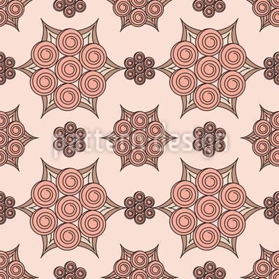 Niedliche Grafikblumen  Nahtloses Muster