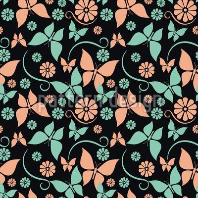 Vintage Butterflies Seamless Vector Pattern