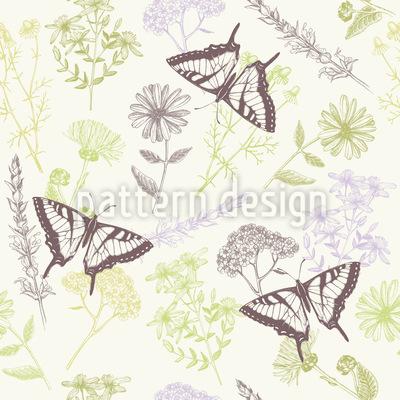 Heilpflanzen und Schmetterlinge Vektor Design