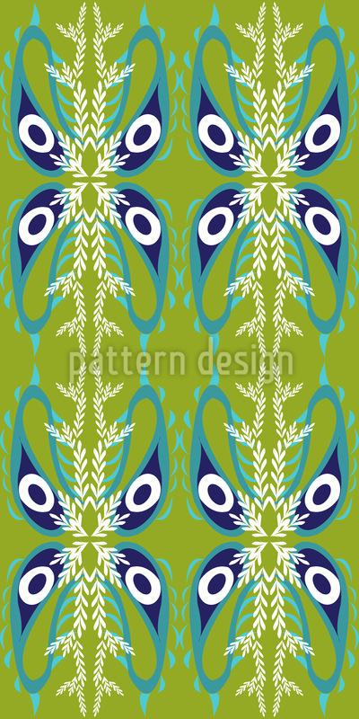 Pfauenauge Paisley Nahtloses Vektor Muster