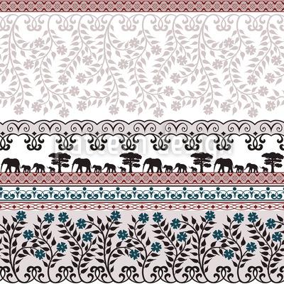 Romantic Safari Repeating Pattern