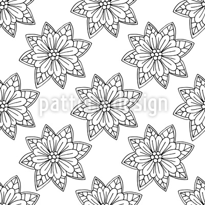 Flowers From Above Repeat Pattern