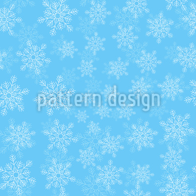 Zarte Schneeflocken Vektor Ornament