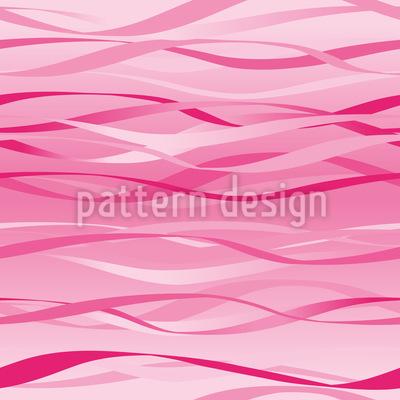 Wellen In Pink Muster Design