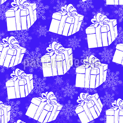 Winter Geschenkschachteln Vektor Muster