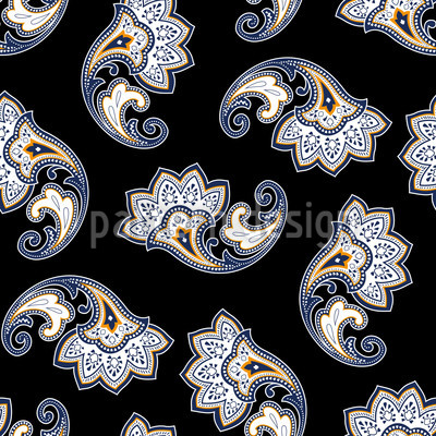 Dark Paisley Vector Ornament