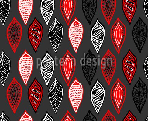 Timetraveling Leaves Seamless Pattern