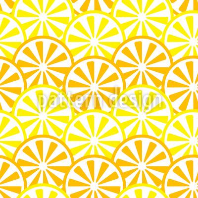 Zitronen und Orangen Scheiben Muster Design
