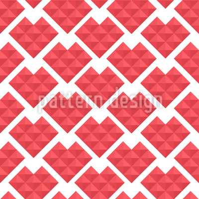 Hearts Of Triangles Vector Design