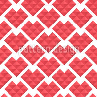 Herzen Aus Dreiecken Vektor Design
