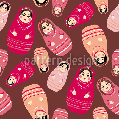 Baboushka Rock Seamless Vector Pattern