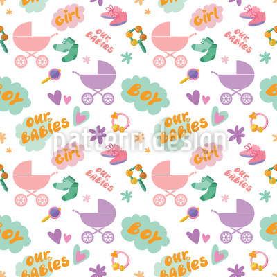 Our Babies Seamless Vector Pattern