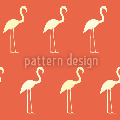 Sunset Flamingo Vector Pattern