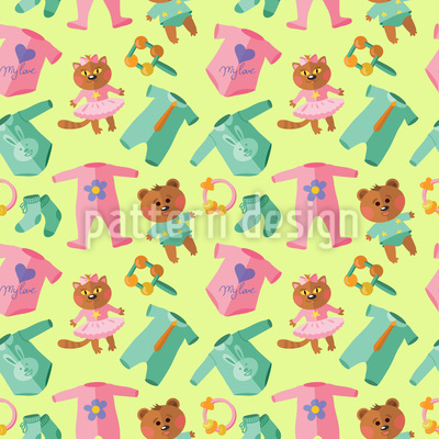 Baby Clothes And Toys Design Pattern