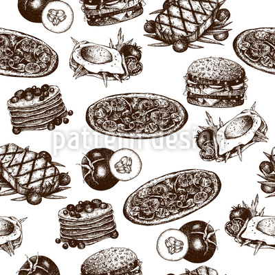 Tasty Food Vector Ornament