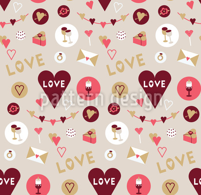Zeig Deine Liebe Nahtloses Vektor Muster