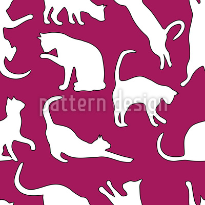 My Favourite Animal The Cat Pattern Design