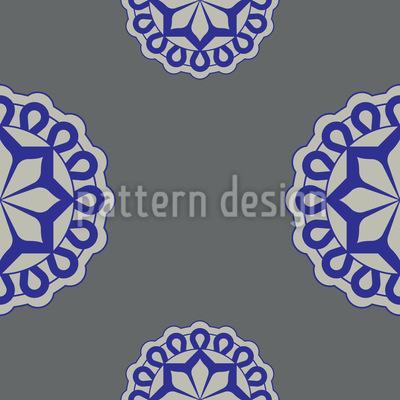 Blumen Emblem Nahtloses Vektor Muster