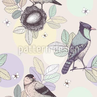 Vogelnest Vektor Muster