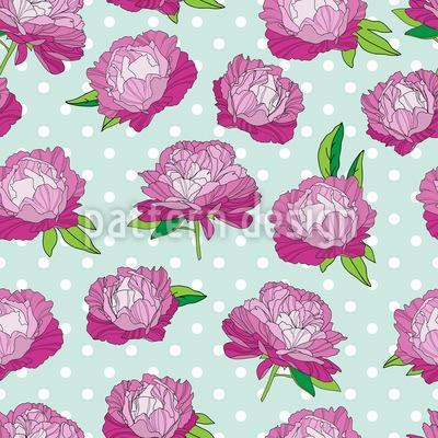 Peonies In Full Bloom Vector Ornament