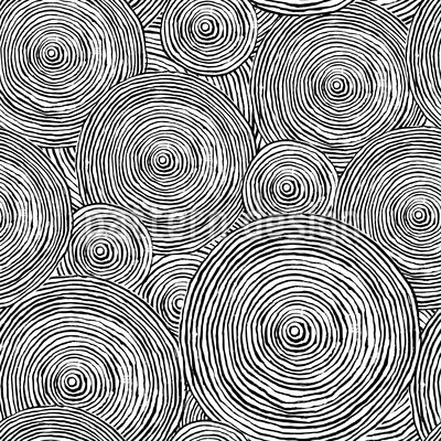 Rough Circles Seamless Pattern