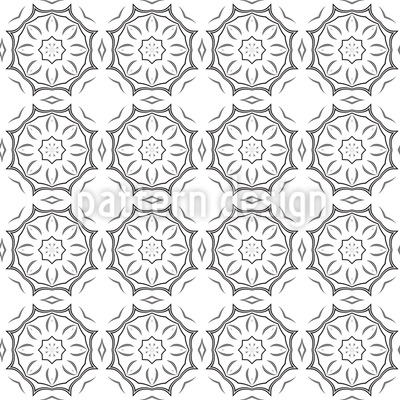 Connected Circles Seamless Vector Pattern